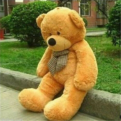 32in.80cm Giant Light Brown Teddy Bear Plush Soft Toy Doll ONLY COVER For Gift