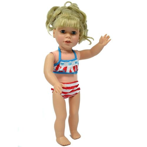 18 Inch Doll Bathing Suit 5 Piece Beach Set Fits 18 Inch and American Girl Dolls