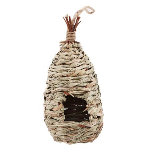 Natural Hanging Grass Nest Pet Birds House Straw Bird Nest Hatch Rest Hut QP