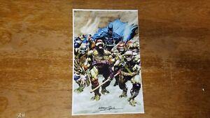 "TMNT # 1 Cover Art Neal Adams 11/"" x 17/"" Signed Print DC Comic TB1 Batman"
