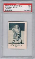 1952 Laval Dairy QHL Update Hockey Card Chicoutimi Sherman White Graded PSA 5