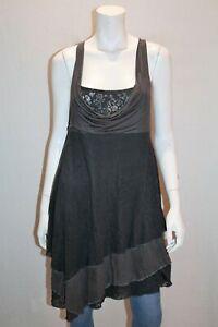 promod-Brand-Grey-Mixed-Cowl-Neck-Sleeveless-Tunic-Dress-Size-M-AN02