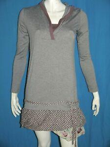 COP-COPINE-Taille-2-38-Superbe-robe-manches-longues-marron-MEEKI-dress