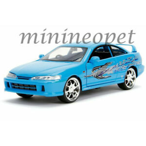 JADA-30739-FAST-amp-FURIOUS-MIA-039-S-ACURA-INTEGRA-1-24-DIECAST-MODEL-CAR-BLUE