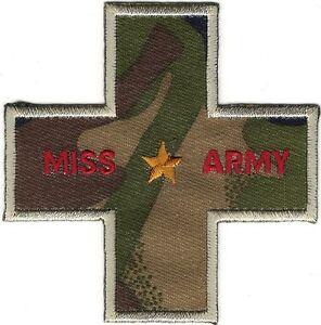 """3 1/4 """" Miss Armée Militaire Doré Étoile Broderie Patch"""
