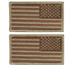 US Air Force Reverse OCP and Spice Brown Flag with Hook Fastener Pair
