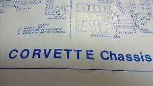 C1 1958 1960 Vintage Corvette Chassis Wiring Schematics Diagram Ebay