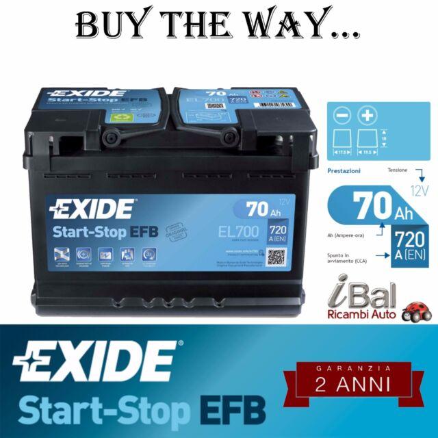 BATTERIA EXIDE START-STOP - EL700 - 720 EN - VOLVO XC60 - T5 AWD