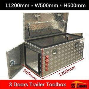 Aluminium Toolbox 3 Door Ute Truck Storage Trailer Tool Box 1200 500 500mm Ebay