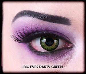 Großhandelspreis Super Rabatt abgeholt Details zu Farbige grüne Big Eyes Kontaktlinsen mit Stärke Party Green  Circle Lens Puppe