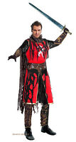 MENS MEDIEVAL MERCENARY GHOST KNIGHT COSTUME FANCY DRESS HALLOWEEN OUTFIT NEW