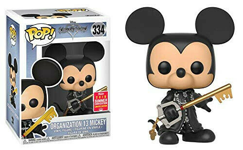 Kingdom Hearts Unhooded Organization 13 Mickey Funko Pop  SDCC 2018