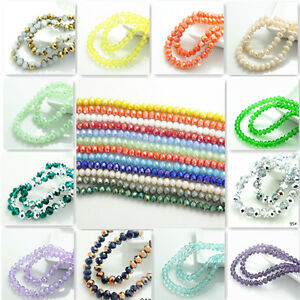 Wholesale-100pcs-Rondelle-Faceted-Crystal-Glass-Loose-Spacer-Beads-6mm-190-Color