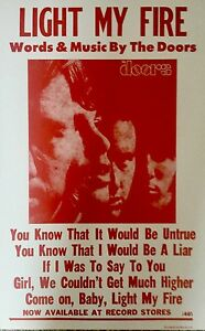 """The Doors quote from their hit song """"Light My Fire"""" Poster Print 