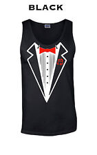 524 Tuxedo Tank Top funny dress bow tie up college help i can't think of anythin