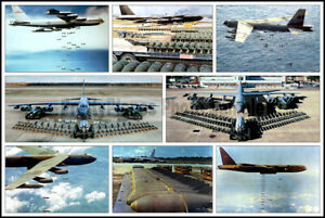 USAF-Boeing-B-52-Stratofortress-Bombers-Aircraft-Collage-Photo