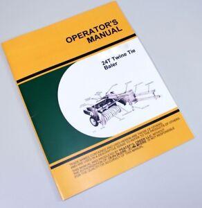 OPERATORS-SERVICE-MANUAL-FOR-JOHN-DEERE-24T-BALER-TWINE-TIE-OWNER-ADJUSTMENTS