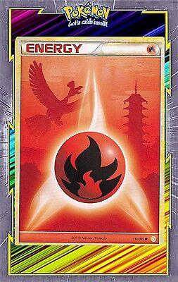 POKEMON HEARTGOLD /& SOULSILVER HS1 N° 116//123 ENERGIE FEU HO-OH