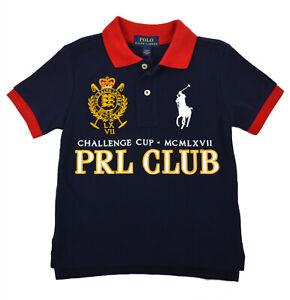 d8d4af1652815 Polo Ralph Lauren Boys Blue Pony PRL Club Mesh Polo Shirt Medium M ...
