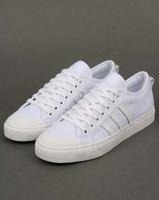 timeless design 5ac66 12466 adidas Nizza Canvas Trainers in White - Originals, lightweight low top  sneaker