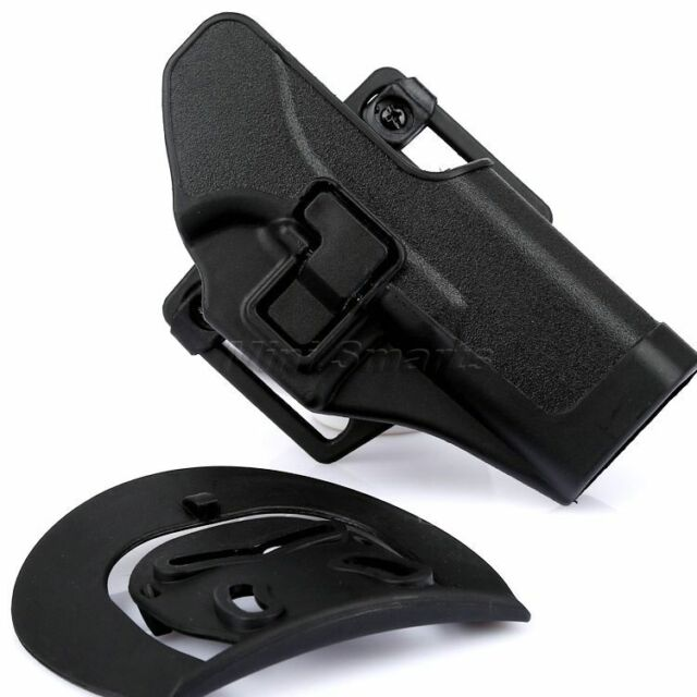 Hunting Quick Draw Paddle Pistol Waist Belt Black Holster for Glock 17 19 22 31