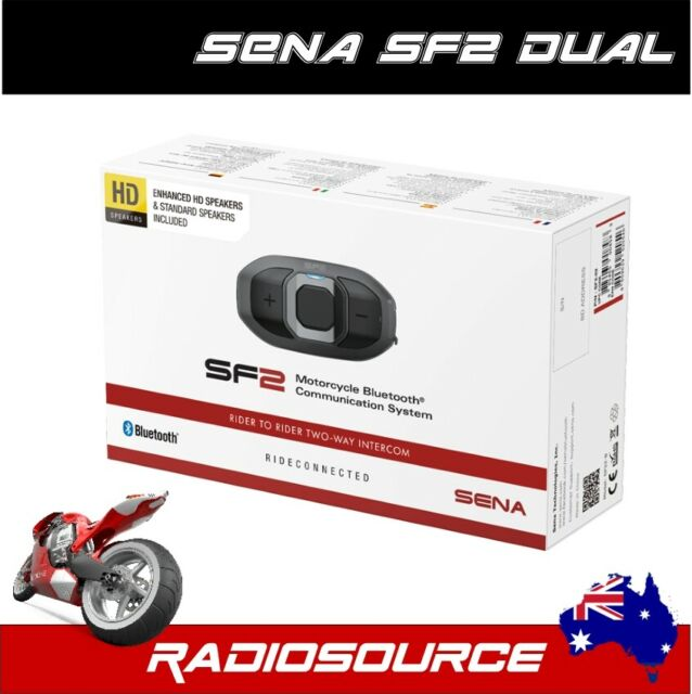 Sena SF2 Motorcycle Bluetooth Communication System with DUAL PACK ** AUS MODEL *