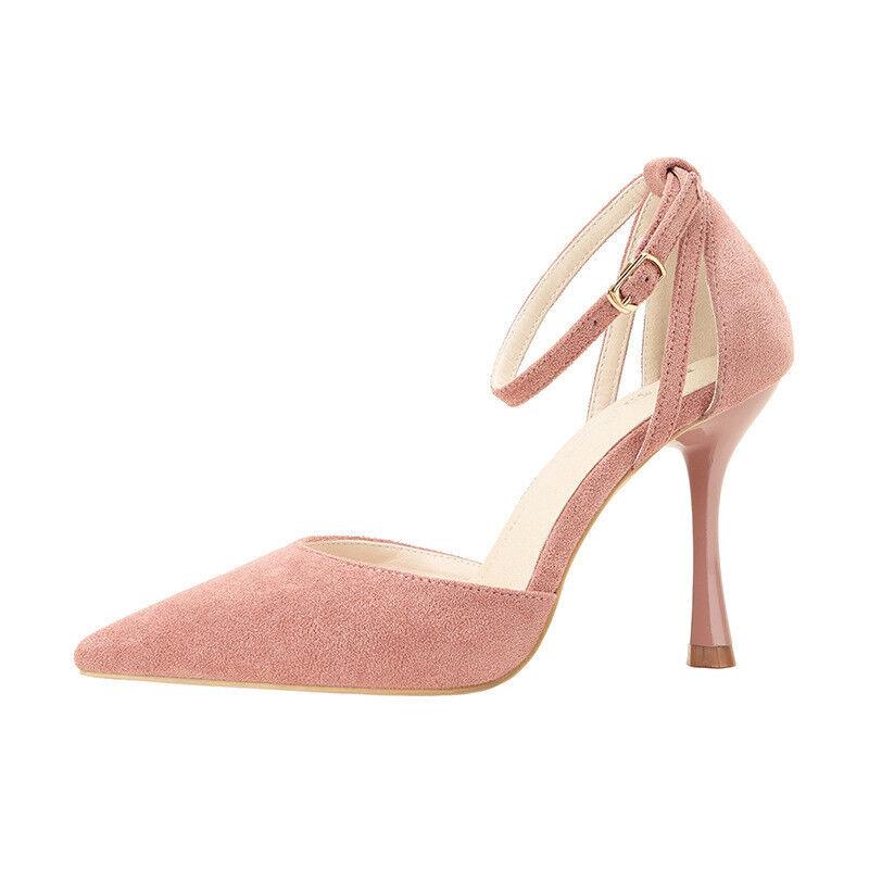 Decolte 8 eleganti Damens stiletto 8 cm decolte cm 8 rosa cipria simil ... c73d85
