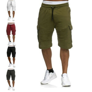 Men-039-s-Drawstring-Casual-Cargo-Shorts-Gym-Sports-Army-Combat-Beach-Short-Pant