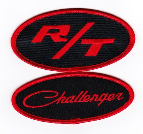 DODGE CHALLENGER R//T BLACK RED SEW//IRON ON PATCH BADGE 440 392 HEMI 383 MAGNUM