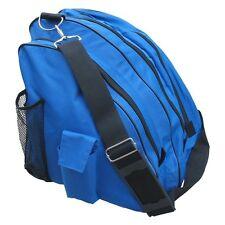 New A&R Deluxe Ice Skate Figure Roller Blade Carry Bag w Shoulder Strap Royal Bl