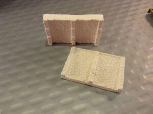 2 X Bridge Retain Walls Sections -n Scale N Gauge- 'stepped Style ' Nous Avons Gagné Les éLoges Des Clients