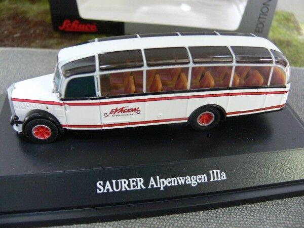 1 87 Schuco SAURER 4 LC Alpenwagen IIIa Evasion St.Maurice S.A. 260010
