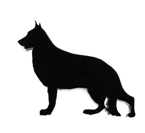 German Shepherd Dog GSD Fridge Magnet in Black With Gift Bag