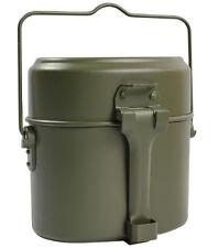 Army Soldier Set Military Mess Kit Lunch Box Canteen Kettle Pot Food Cup Bowl