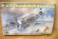 REVELL P-47D THUNDERBOLT RAZORBACK MODEL KIT 1/48 SCALE