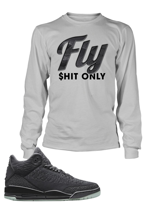 Fly  Sneaker Graphic Tee Shirt To Match Air Jordan 3 Flyknit Big Tall Small