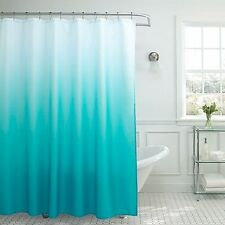 "Turquoise Shower Curtain Panel Polyester Bathroom 72"" L x70"" W Fabric Bath Decor"