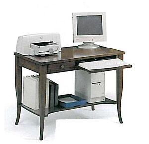 SCRIVANIA-SCRITTOIO-CLASSICO-ARTE-POVERA-PORTA-COMPUTER-PC