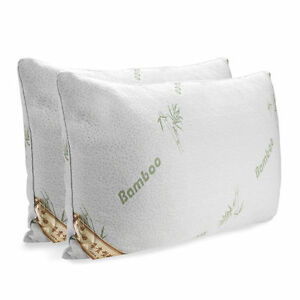 One or Two Pack Queen King Hotel Bamboo Pillow Memory Foam Hypoallergenic NEW US