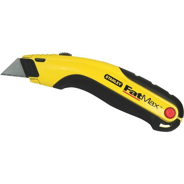 (36)-Stanley 6-5 8  Long Yellow FatMax Retractable Straight Utility Knife 10-778