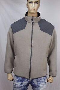 Blue-label-John-Rich-and-Bros-Woolrich-Men-039-s-wool-nylon-zip-fleece-jacket-US-XL