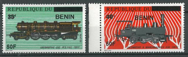 Benin 2009 MNH - Railways Trains 2 Ssarce stamps ovptd 50F - cv 238$