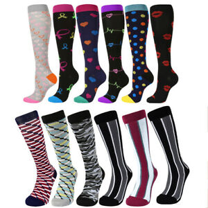 b9c45db2e5 Image is loading Nurses-Compression-Socks-Cycling-Running-Stocking-Thigh- High-