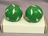 Pottery Barn Kids Green Lightning Finials Set/2
