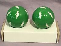 Pottery Barn Kids Green Lightning Finials Set/2