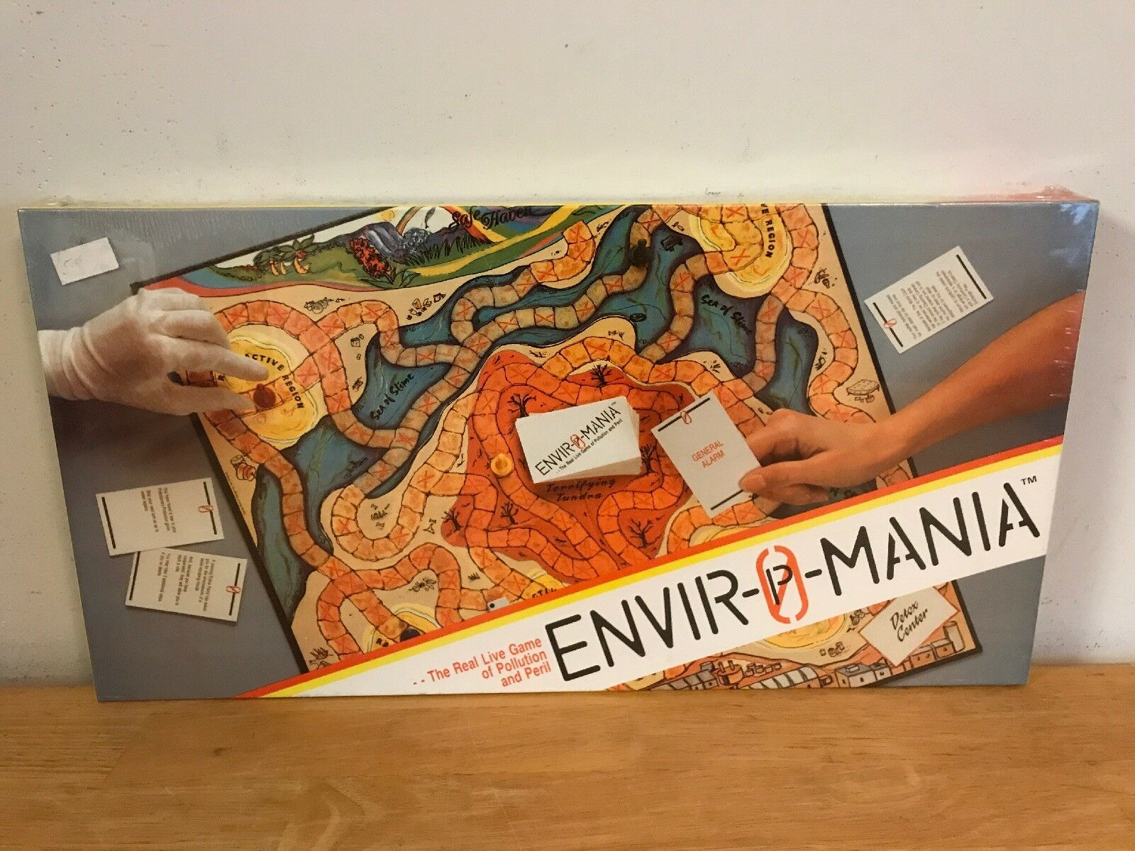ENVIROMANIA ENVIR-O-MANIA POLLUTION & PERIL Board Game NEW FACTORY SEALED RARE