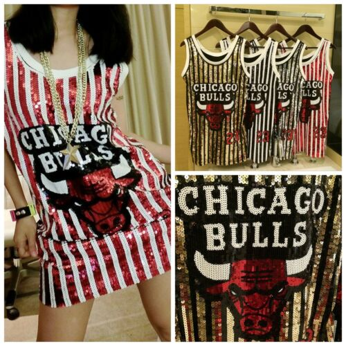 Basketball sequins Nouveau Beyoncé Sport Robe rouge chicago No Robe à 23 Bulls CwqtZ