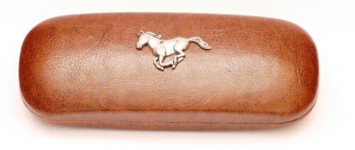 Running horse head effet cuir pu étui à lunettes équitation tir cadeau