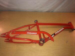 Vintage-ROSS-Piranha-Red-Freestyle-BMX-Bike-Bicycle-Frame