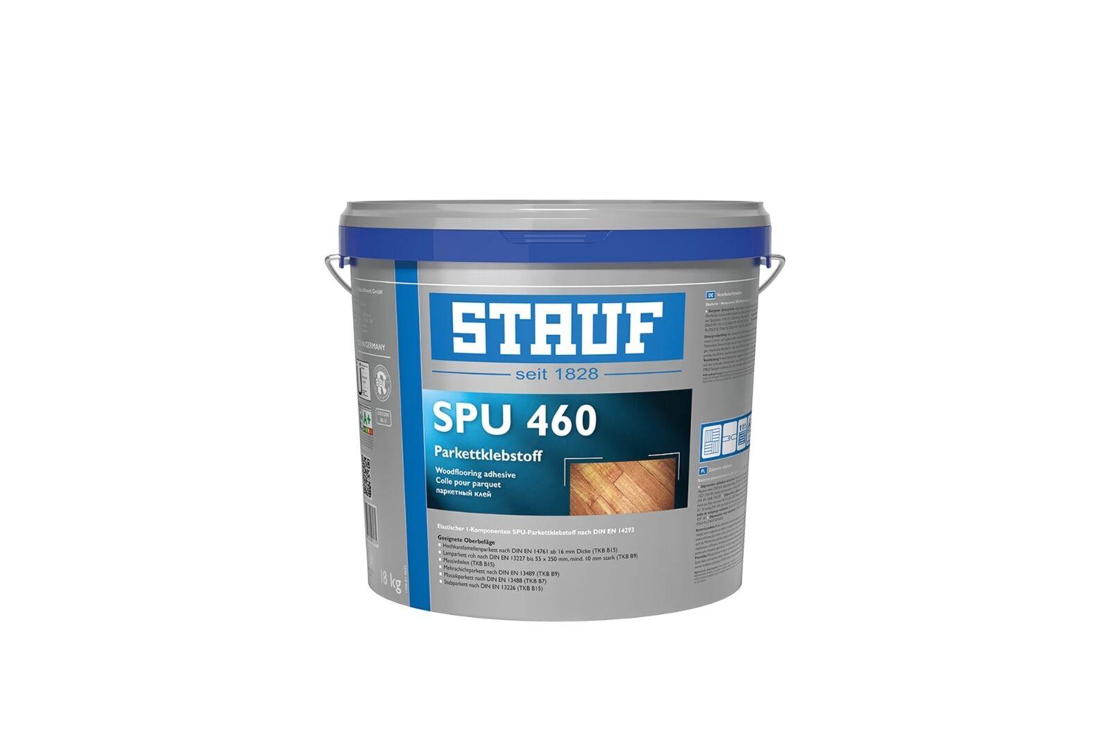 Stauf SPU 460 elastischer 1K SPU Parkettklebstoff 8 kg - lösemittelfrei